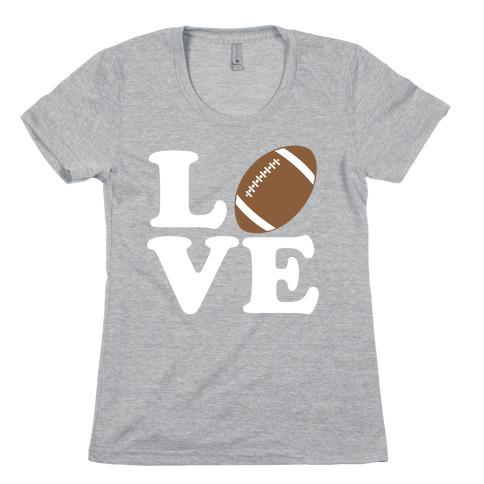 Love Football Womens T-Shirt