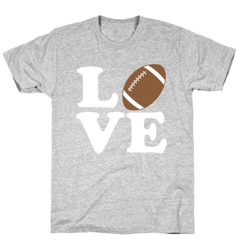Love Football Mens/Unisex T-Shirt