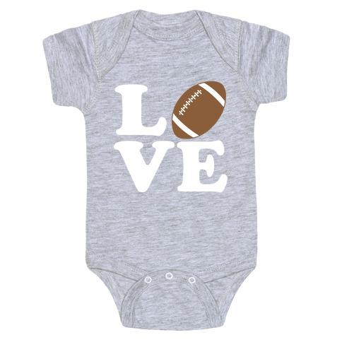 Love Football Baby Onesy