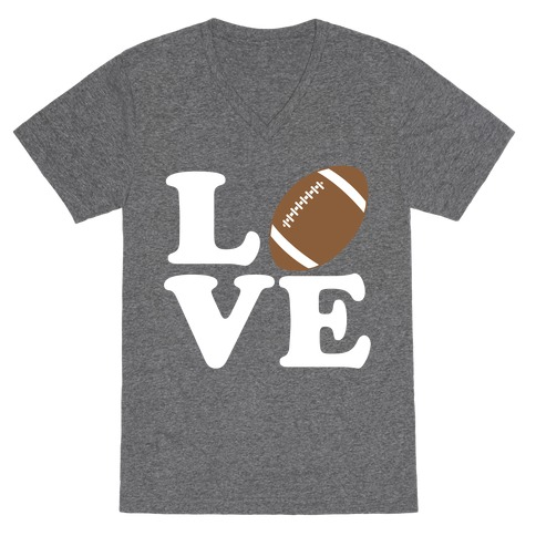 Love Football V-Neck Tee Shirt