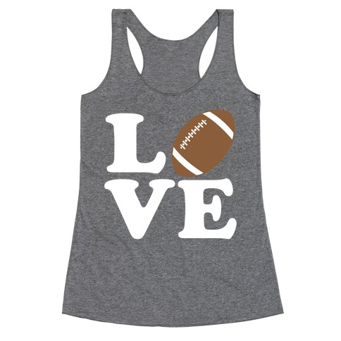 Love Football Racerback Tank Top