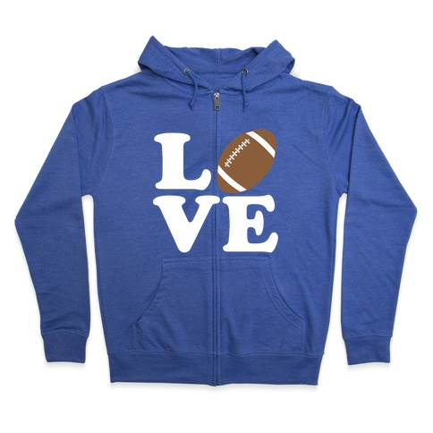 Love Football Zip Hoodie
