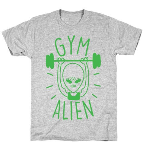 Gym Alien Lifting T-Shirt