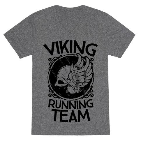 Viking Running Team V-Neck Tee Shirt