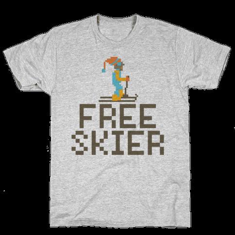 Free Skier Forever Mens T-Shirt
