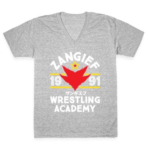 Zangief Wrestling Academy V-Neck Tee Shirt