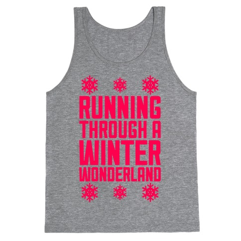 Running Through A Winter Wonderland Tank Top