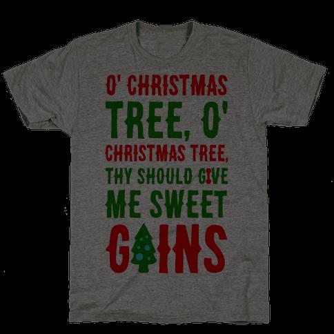 O' Christmas Tree Thy Should Give Me Sweet Gains