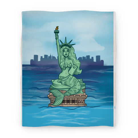 Statue of Liberty Mermaid (Blanket) Blanket