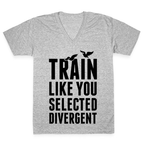 Train Like You Selected Divergent V-Neck Tee Shirt