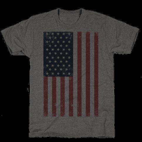 American Flag Distressed (Patriotic T-Shirt)