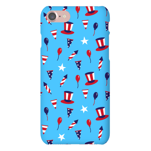 Red White and Blue Pattern Phone Case