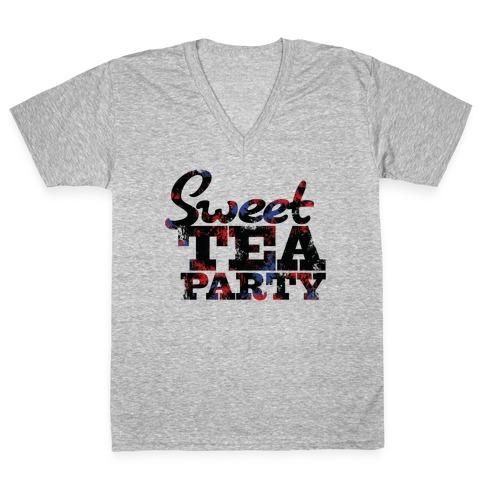 Sweet Tea Party V-Neck Tee Shirt