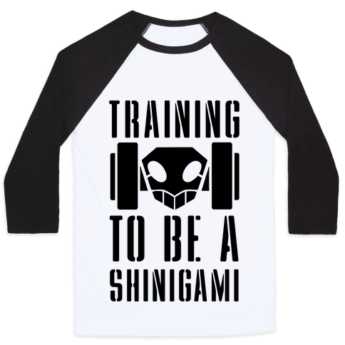 Training to be a Shinigami Baseball Tee