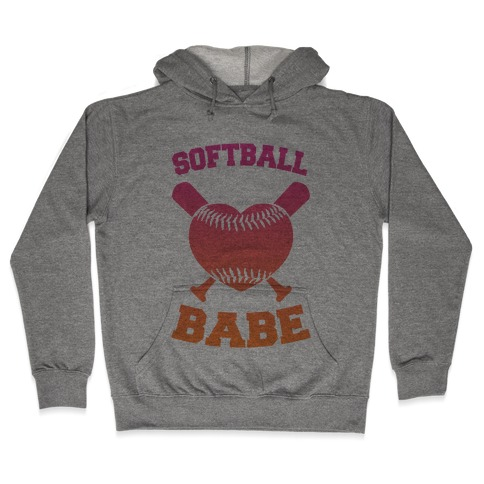 Softball Babe Hooded Sweatshirt