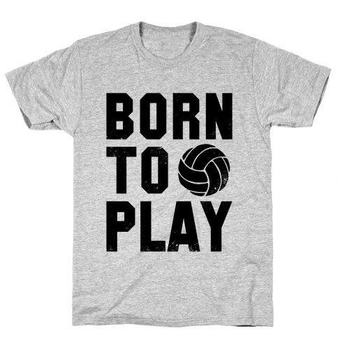 Born to Play Volleyball (tank) Mens T-Shirt