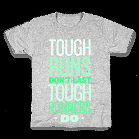 Tough Runners (Green) Kids T-Shirt