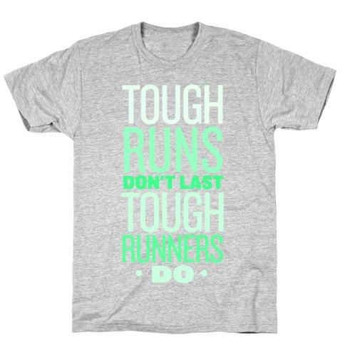Tough Runners (Green) Mens T-Shirt