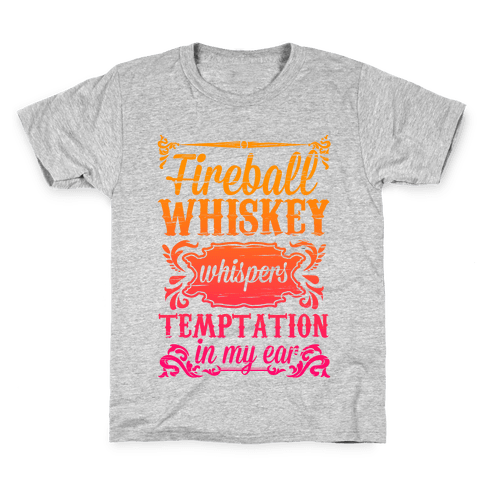 Whiskey Whispers Temptation In My Ear Kids T-Shirt