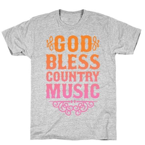 God Bless Country Music Mens/Unisex T-Shirt