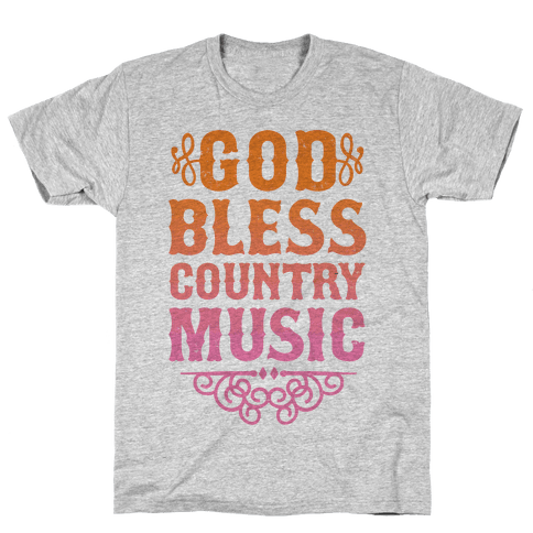 God Bless Country Music Mens T-Shirt