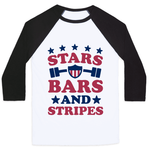 Stars Bars and Stripes Baseball Tee