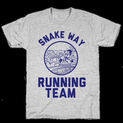 Snake Way Running Team Mens T-Shirt