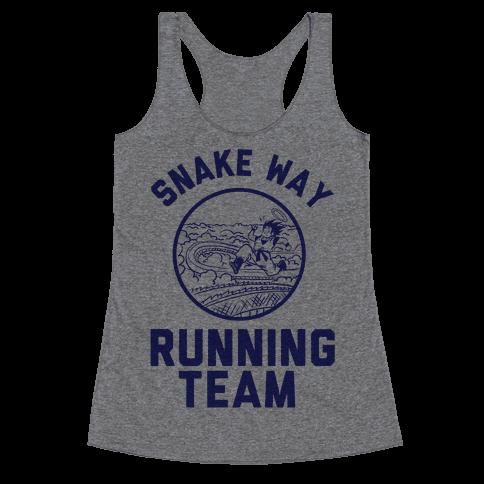 Snake Way Running Team Racerback Tank Top