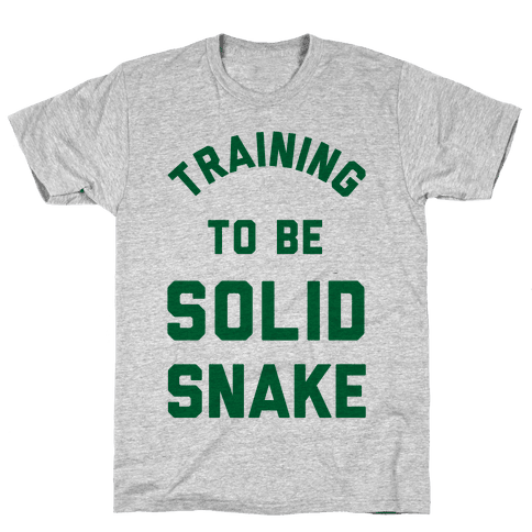 Training To Be Solid Snake Mens T-Shirt