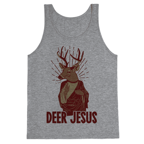 Deer Jesus Tank Top