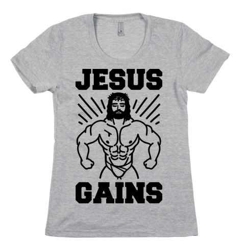 Jesus Gains Womens T-Shirt