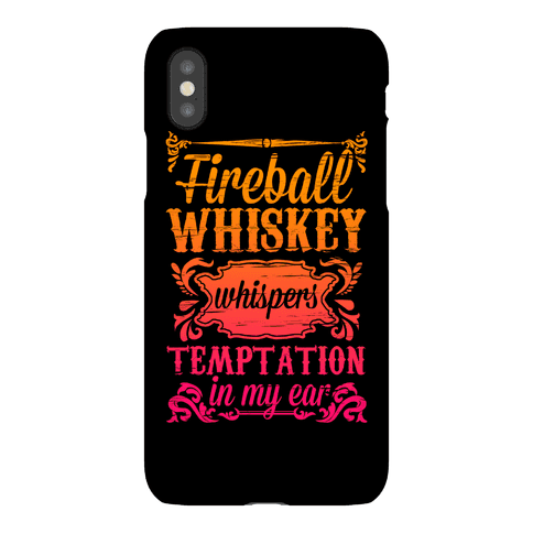 Whiskey Whispers Temptation In My Ear Phone Case
