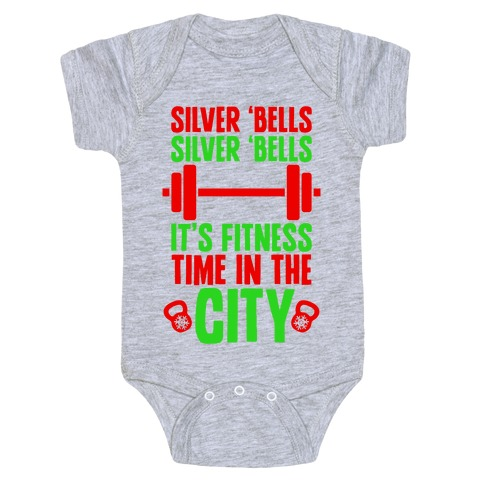 Silver Bells, Silver Bells, It's Fitness Time In The City Baby Onesy