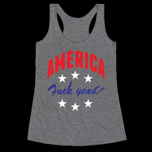 America F*** Yeah Racerback Tank Top