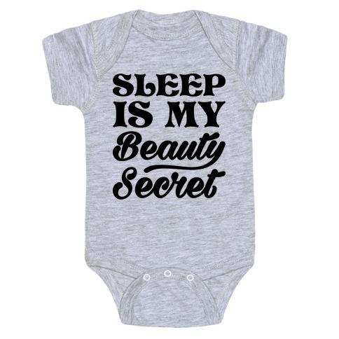 Sleep Is My Beauty Secret Baby Onesy