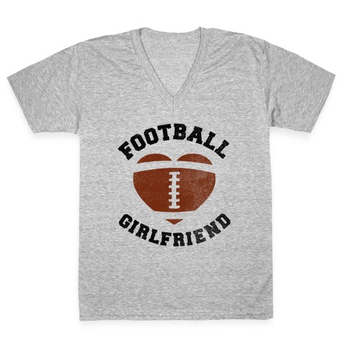Football Girlfriend V-Neck Tee Shirt