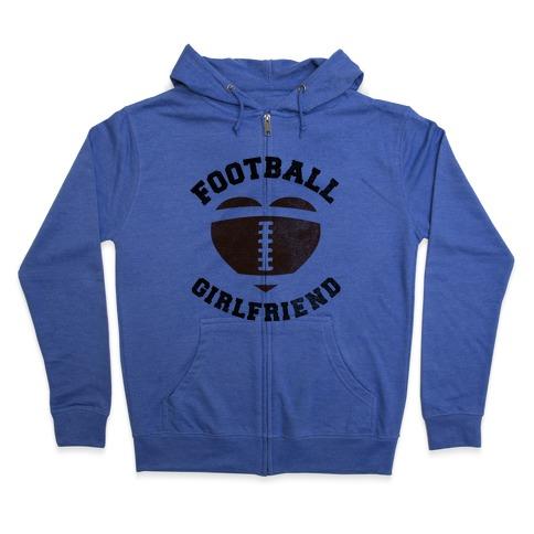 Football Girlfriend Zip Hoodie