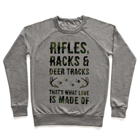 Rifle, Racks & Deer Tracks Pullover