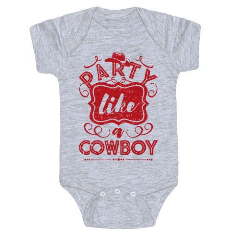 Party Like A Cowboy Baby Onesy