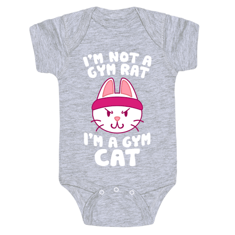 I'm A Gym Cat Baby Onesy