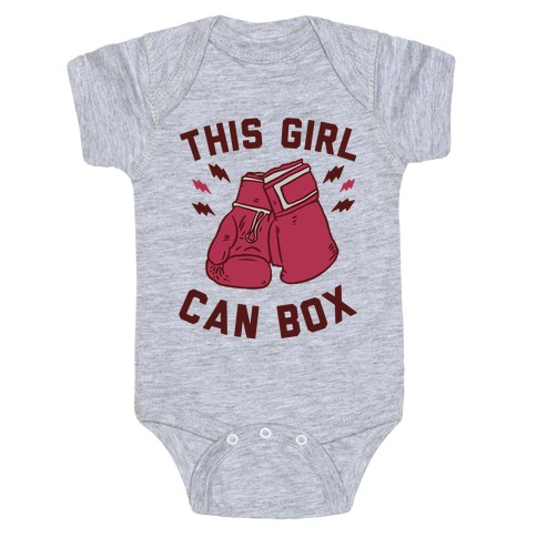 This Girl Can Box Baby Onesy