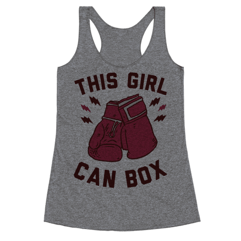 This Girl Can Box Racerback Tank Top