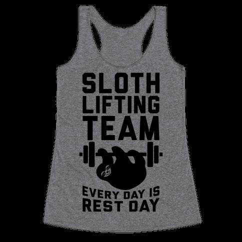 Sloth Lifting Team Racerback Tank Top