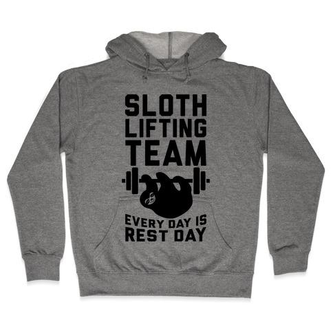Sloth Lifting Team Hooded Sweatshirt
