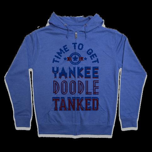 Yankee Doodle Tanked Zip Hoodie