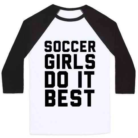 Soccer Girls Baseball Tee
