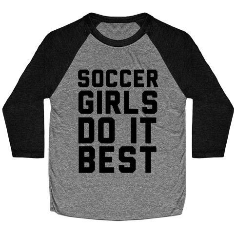Soccer Girls Baseball Tee
