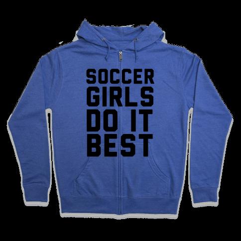 Soccer Girls Zip Hoodie