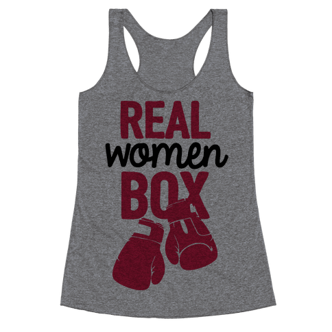 Real Women Box Racerback Tank Top