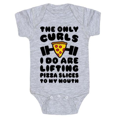 I Lift Pizza Baby Onesy